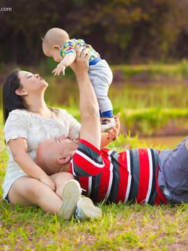 Famílias de Arthur com 8 meses em Nepomuceno/MG