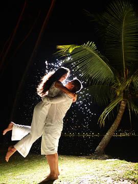 ensaio de noivos de Ilmara e Ivan em Praia de Inema - Bahia