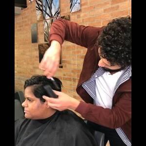 Coloração e Corte de Corte cabelo curto