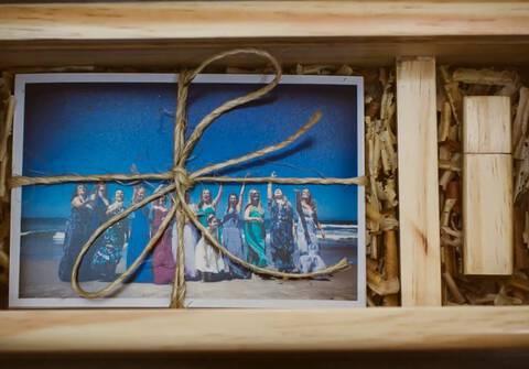 Casamento de Wood BOX