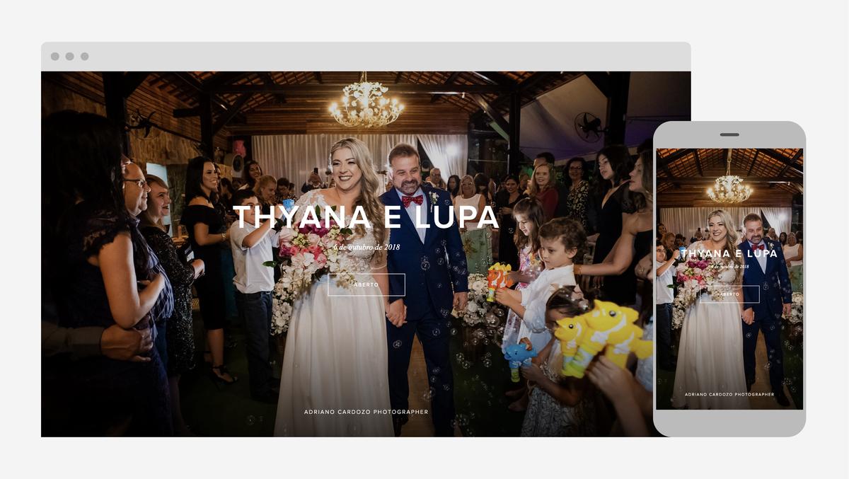 entrega de fotos de casamento