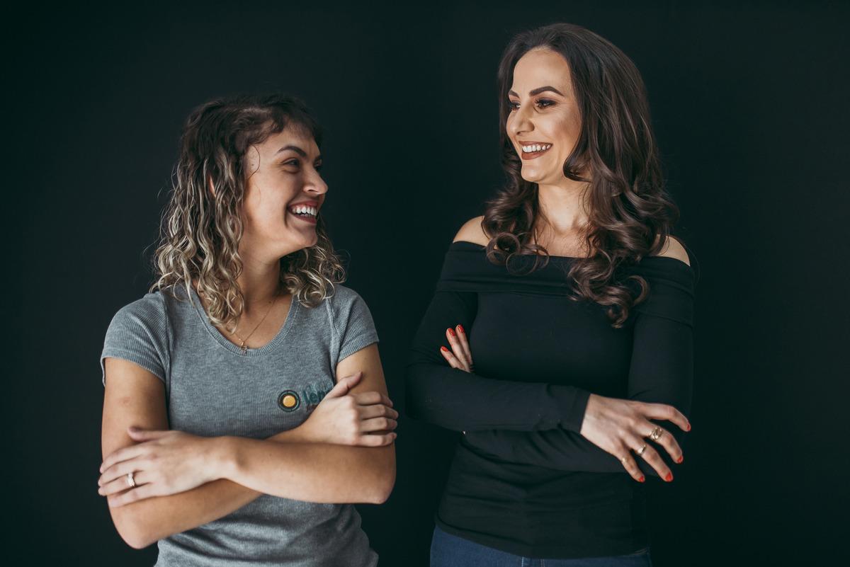 Carol, do Ateliê Lena, junto a nutricionista Marina Sgarioni.