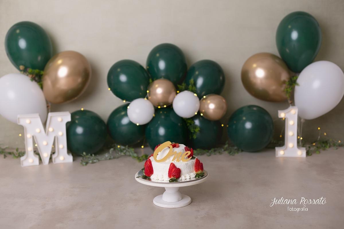Smash The Cake verde e dourado ensaio sp