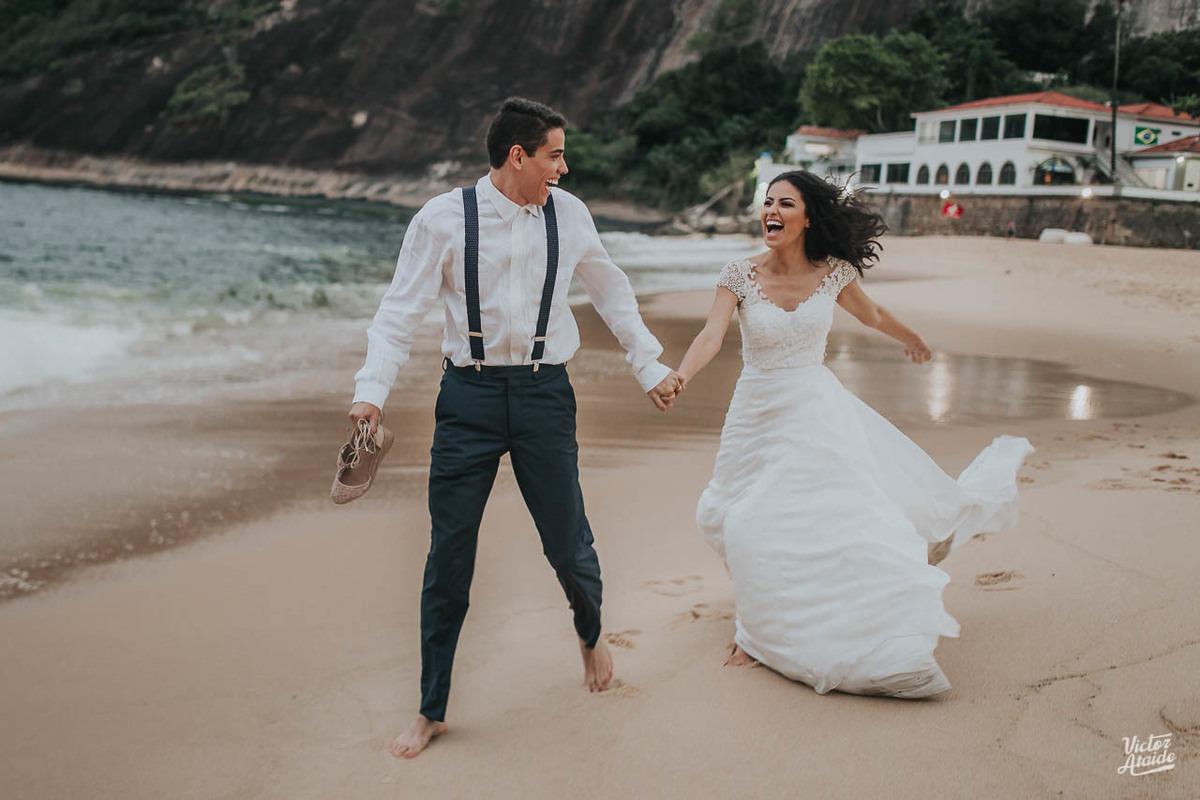 Ensaio de casal Pós-Casamento na praia