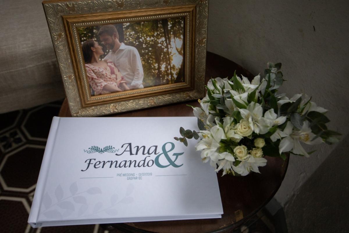 álbum de fotos de pré-casamento