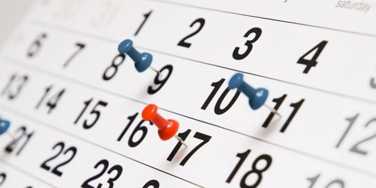 calendário de casamento