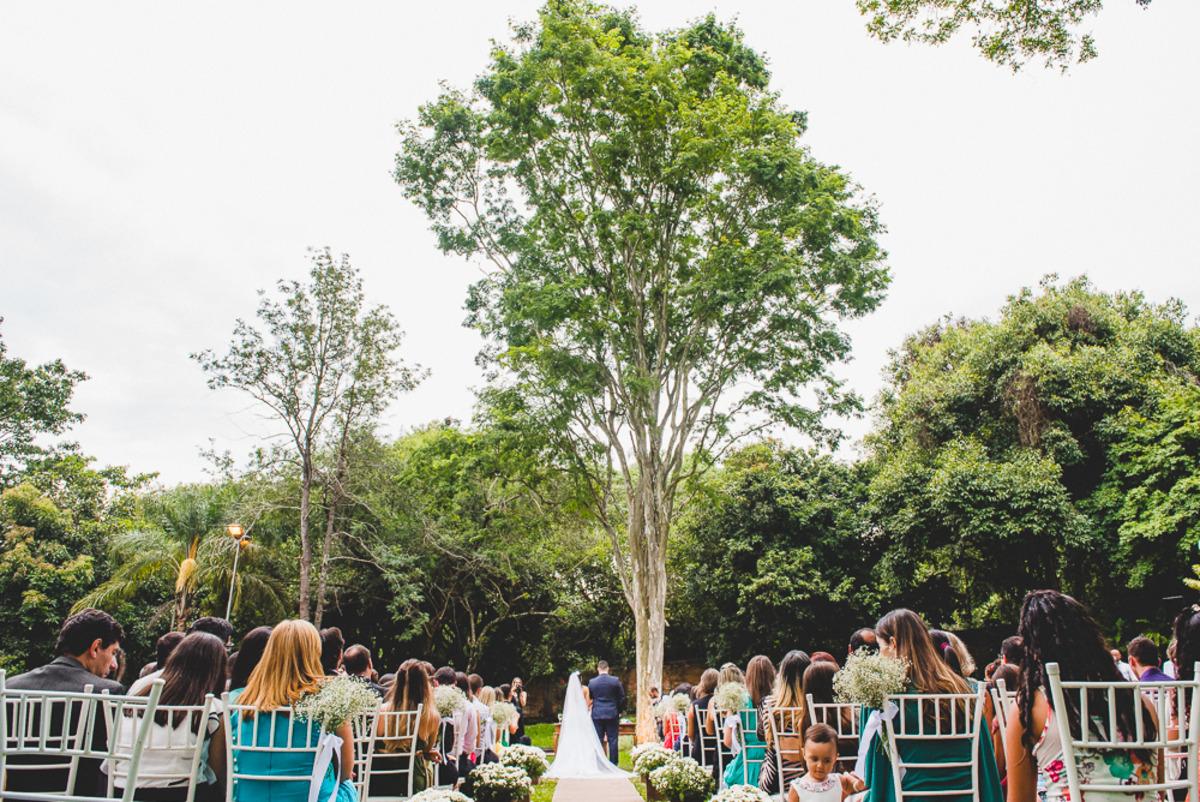 Local da cerimônia para casamento no campo