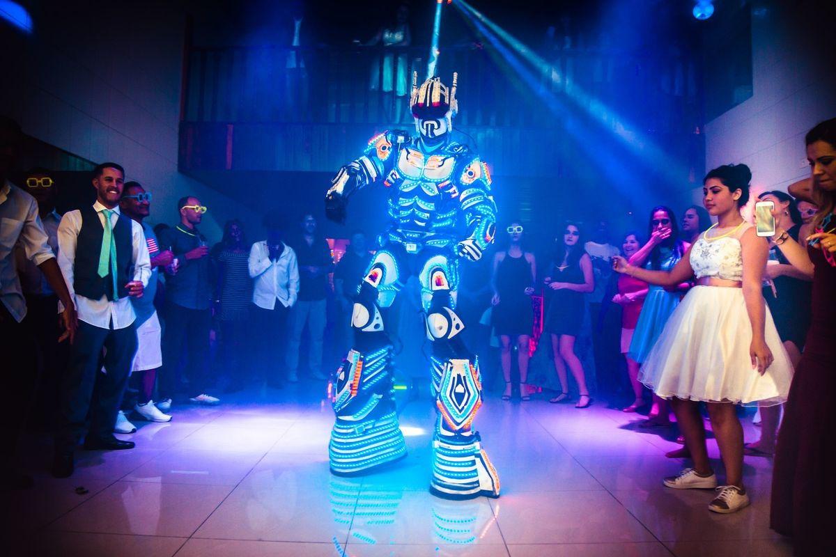 robô de led festa debutante alexfotoedesign