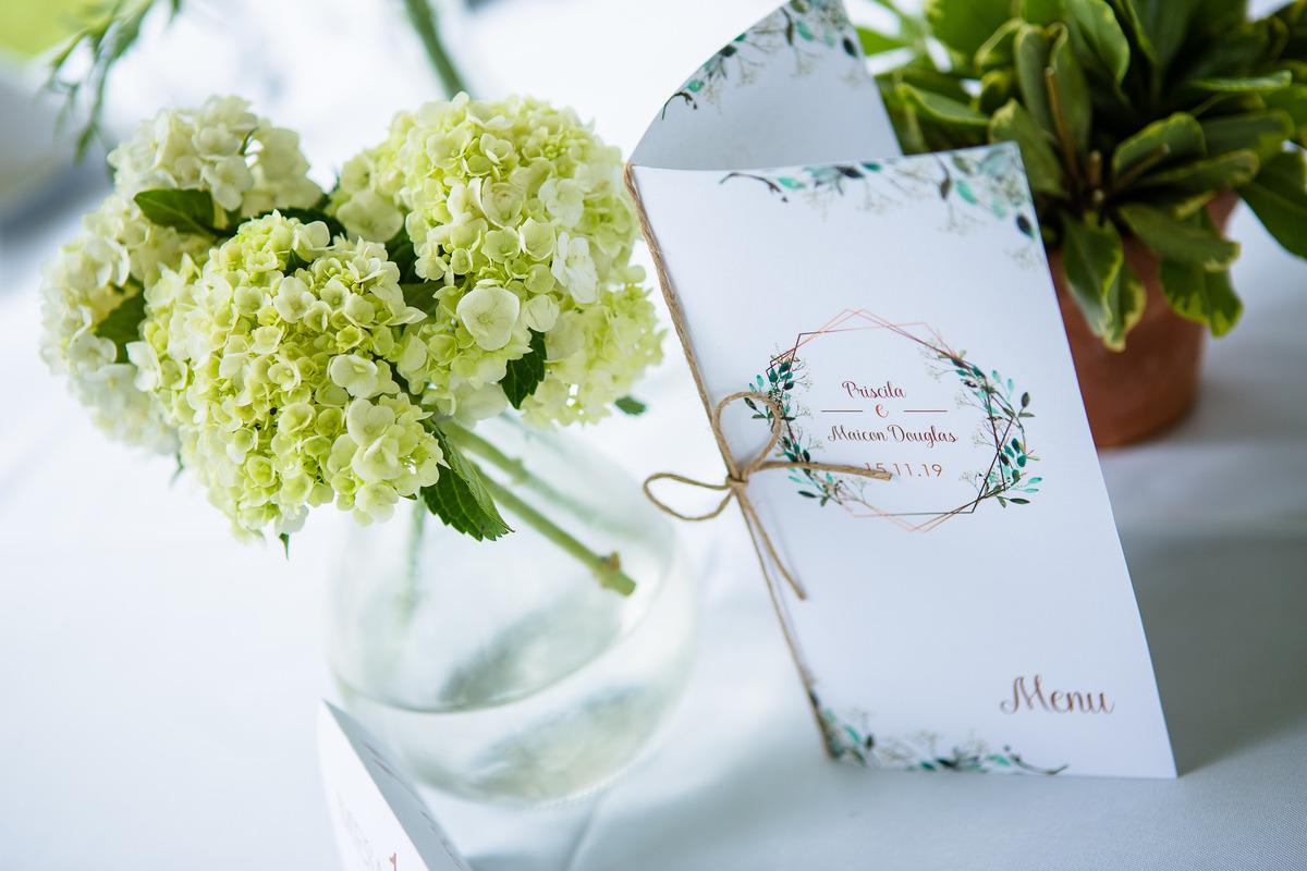 Foto do Menu de Casamento