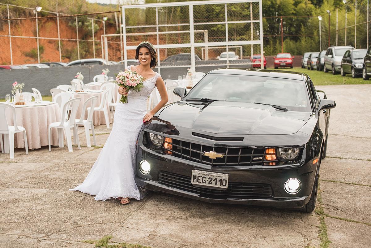 Casamento carro camaro preto