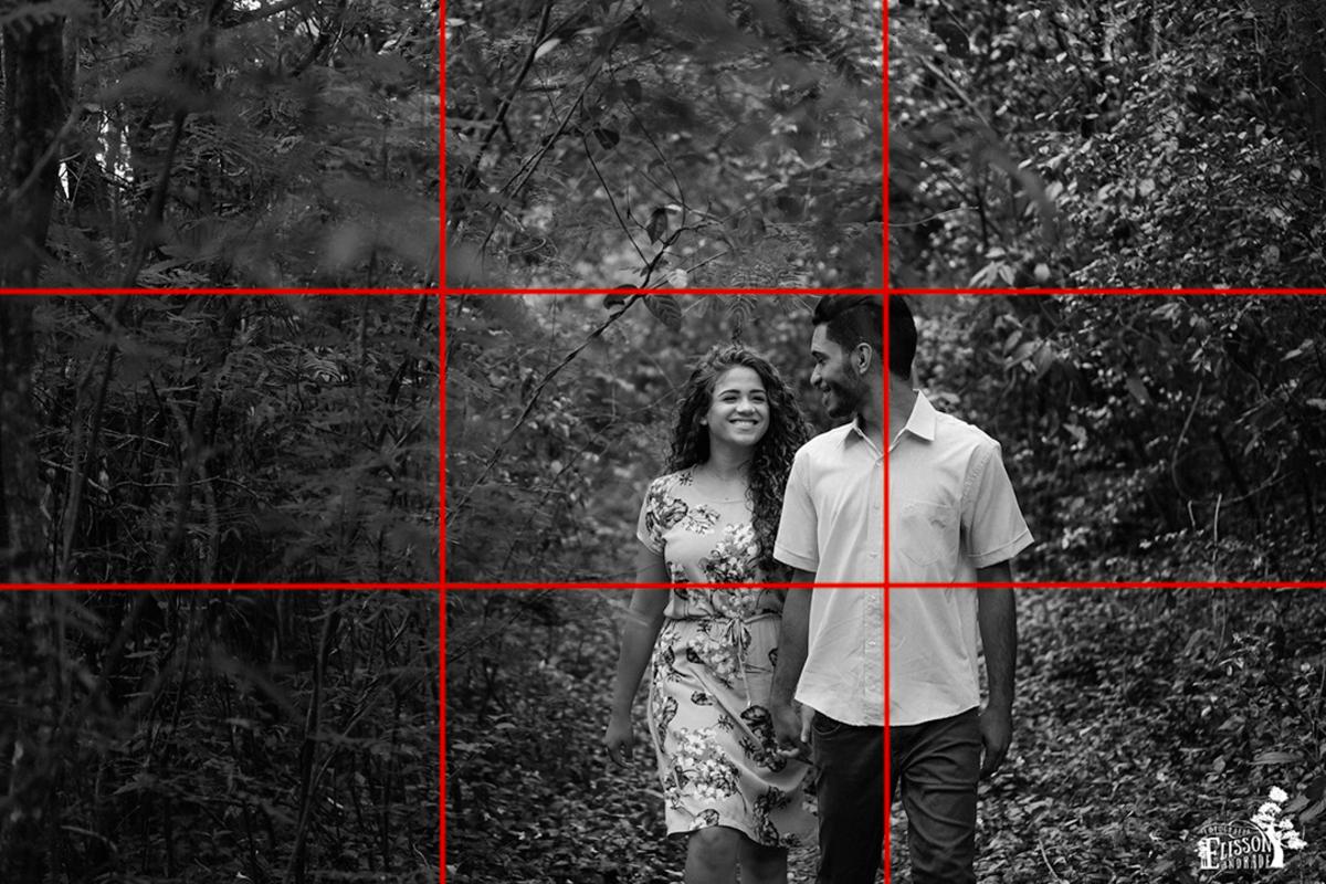 regra dos terços na composição fotográfica