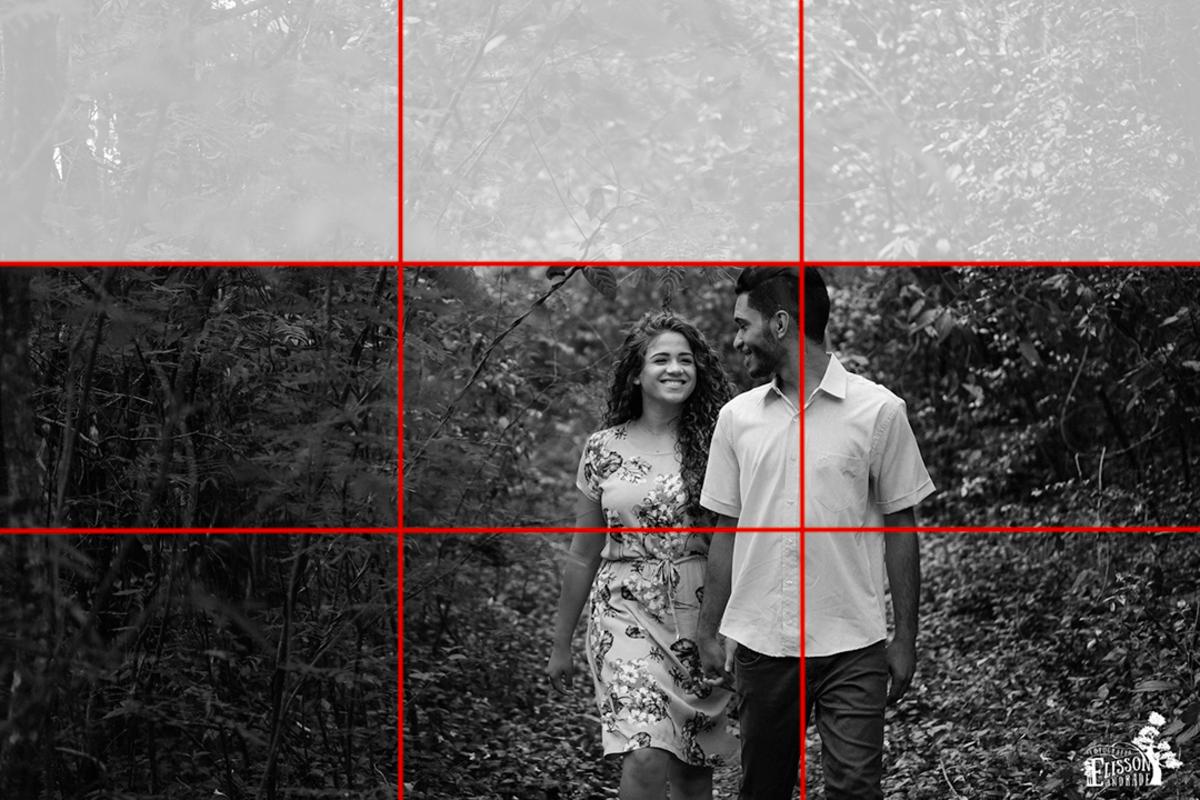 regra dos terços e espaço negativo na composição fotográfica