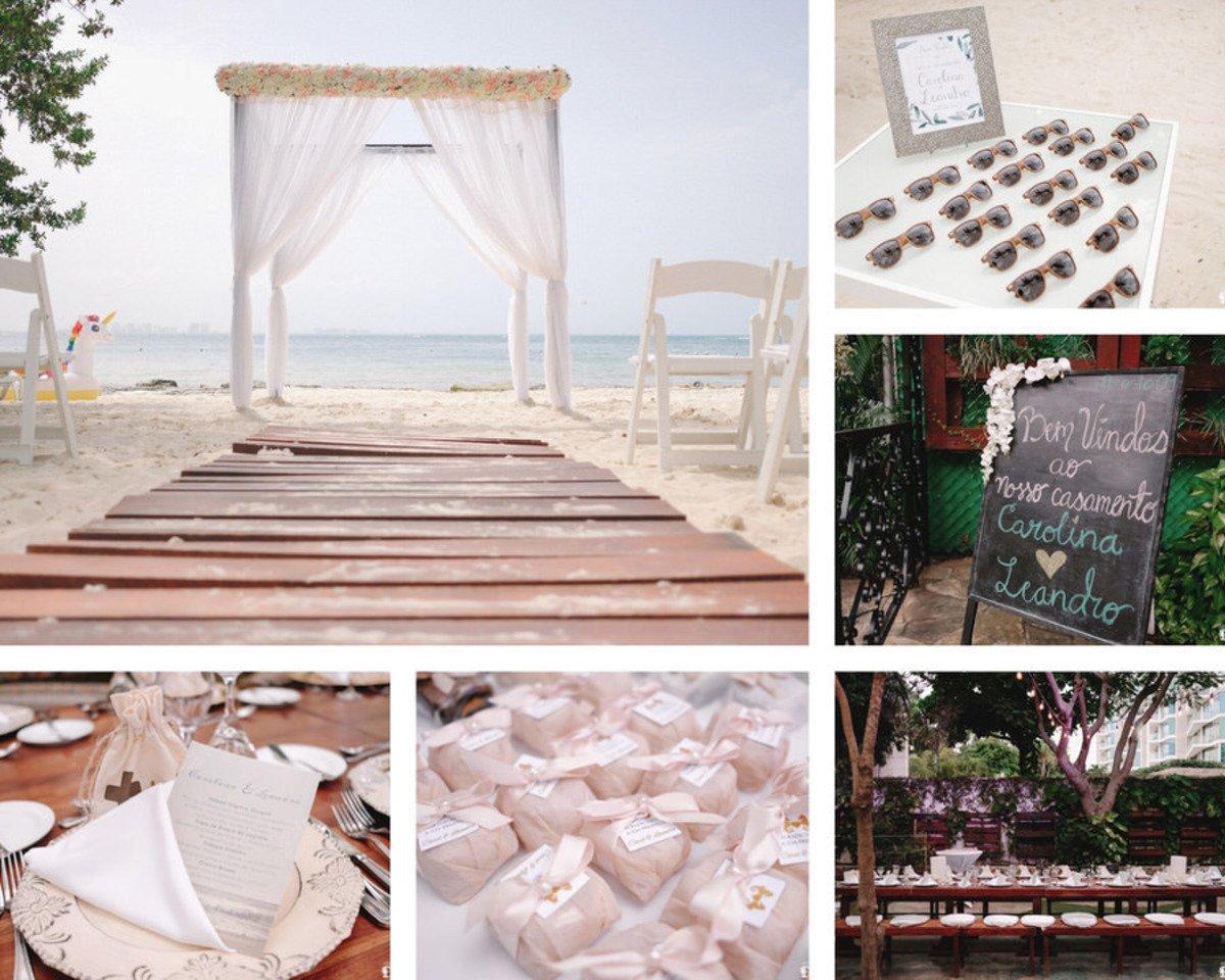 decoração de casamento pequeno, mini-wedding, varias fotos com decoração e papelaria de casamento