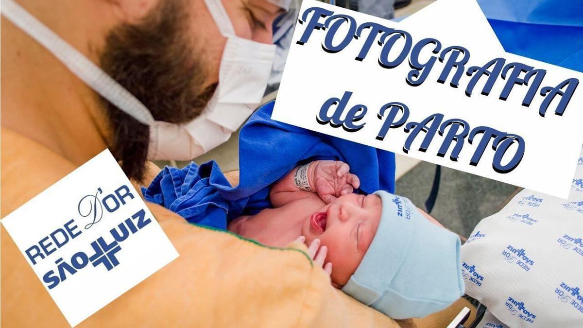 Foto do primeiro sorriso do bebê, em parto realizado no Hospital São Luiz - Rede D'or