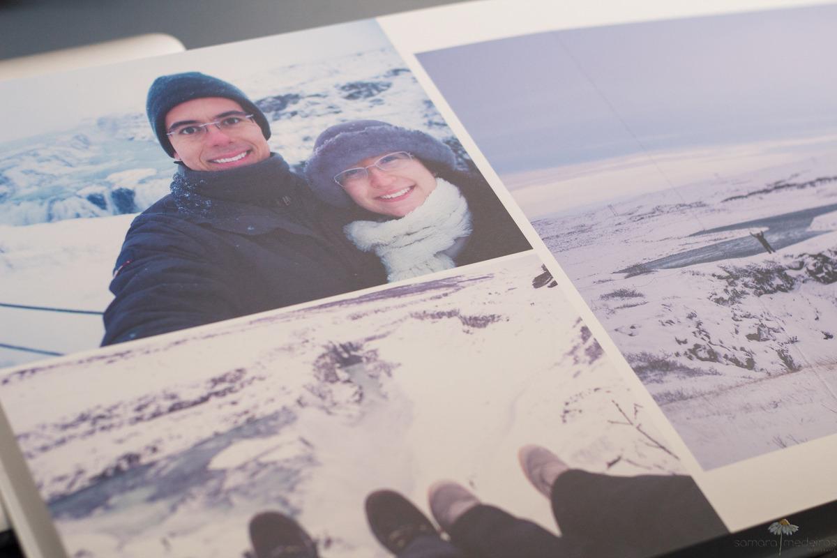 Album fotográfico pessoal com fotos de viagem para a Islândia.