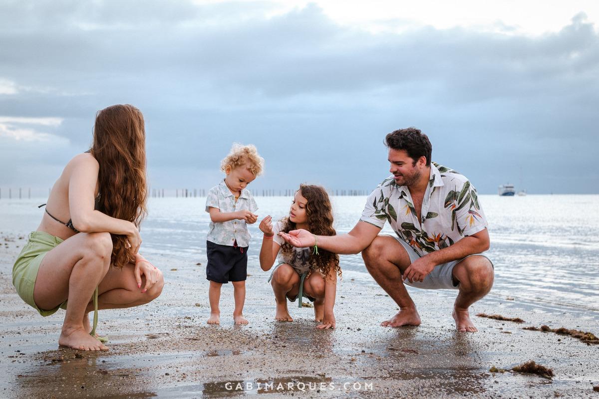 Fotografia cumuruxatiba, foto de família na praia