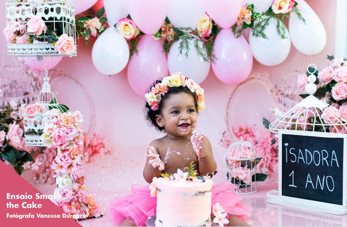 ensaio smash the cake para meninas