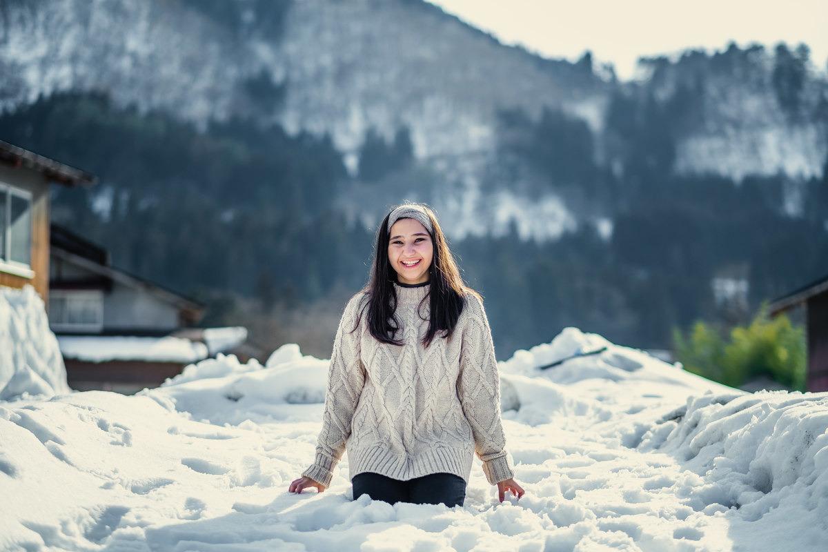 ensaio diferente no japao, ensaio na neve no japao, fotografo no japao, ensaio em Shirakawa