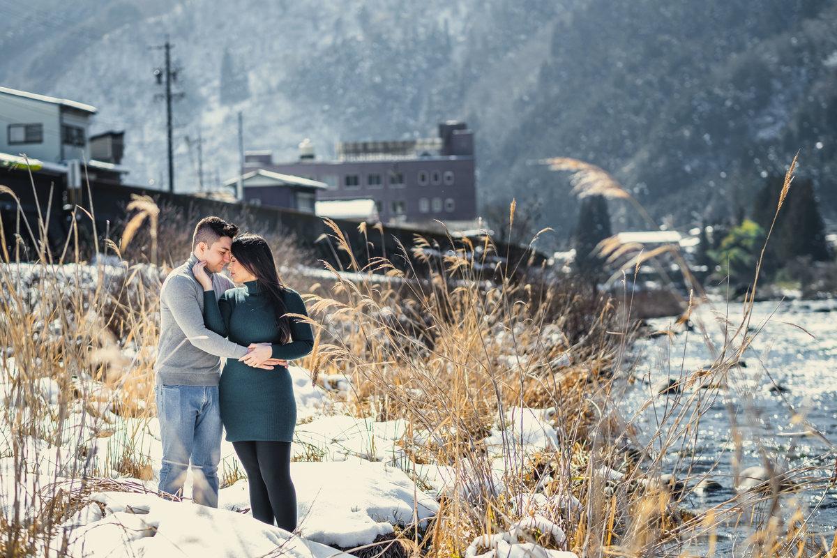 prewedding no japao, ensaio de casal no japao, fotografo em Gifu, ensaio na neve no japao, neve no japao, ensaio diferente no japao