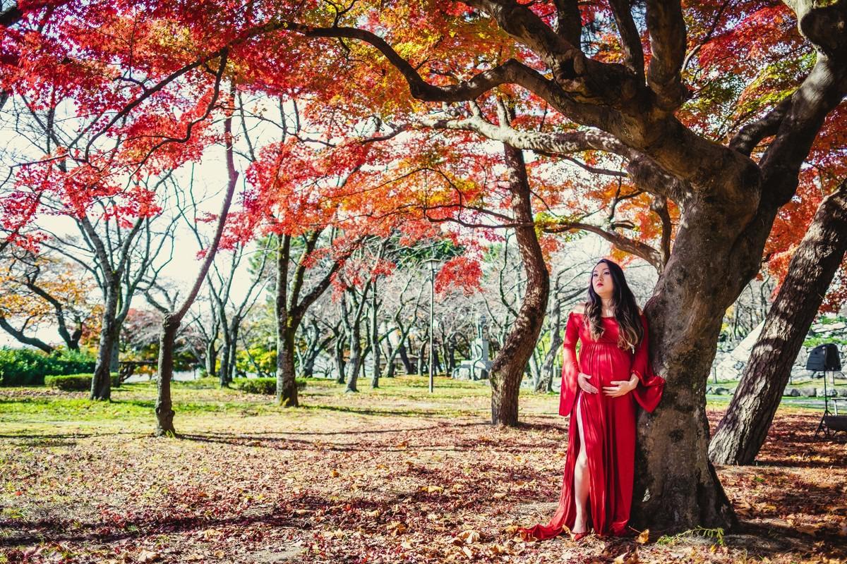 ensaio gestante Momiji, ensaio momiji, fotografo em shiga, fotografo no japao, ensaio gestante no japao