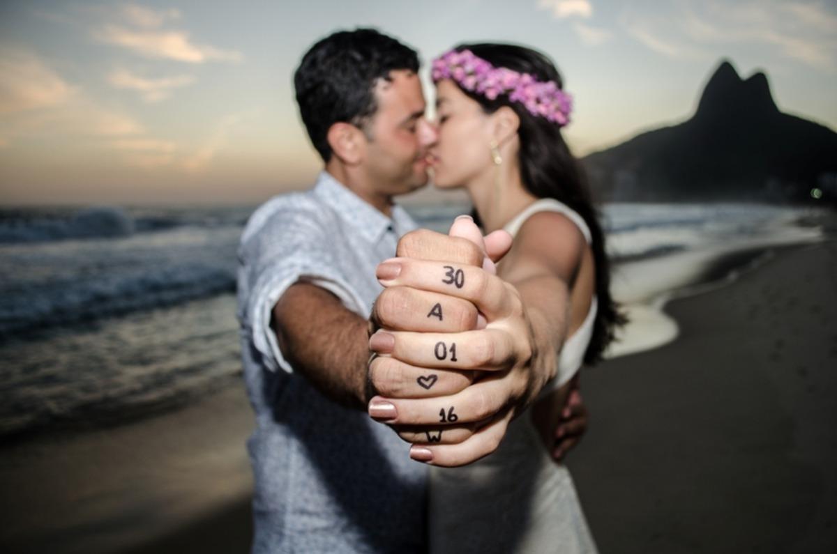 Uma das últimas fotos do ensaio pré-casamento do Wallace e da Amanda, realizado na praia do Leblon, na cidade do Rio de Janeiro