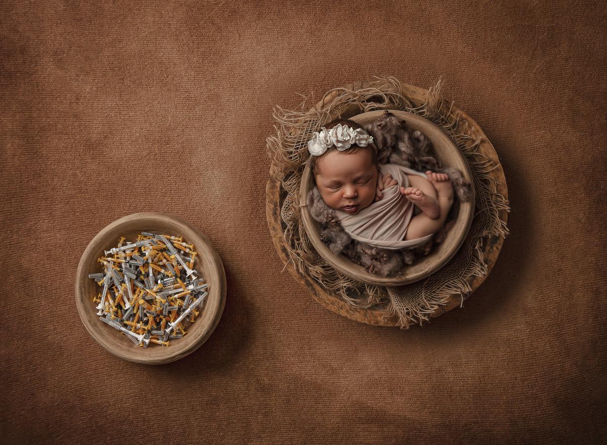 Anna em seu Ensaio Newborn muito especial!