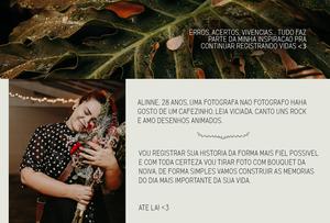 Sobre Fotógrafa de Casamento em São Paulo - Baixada Santista